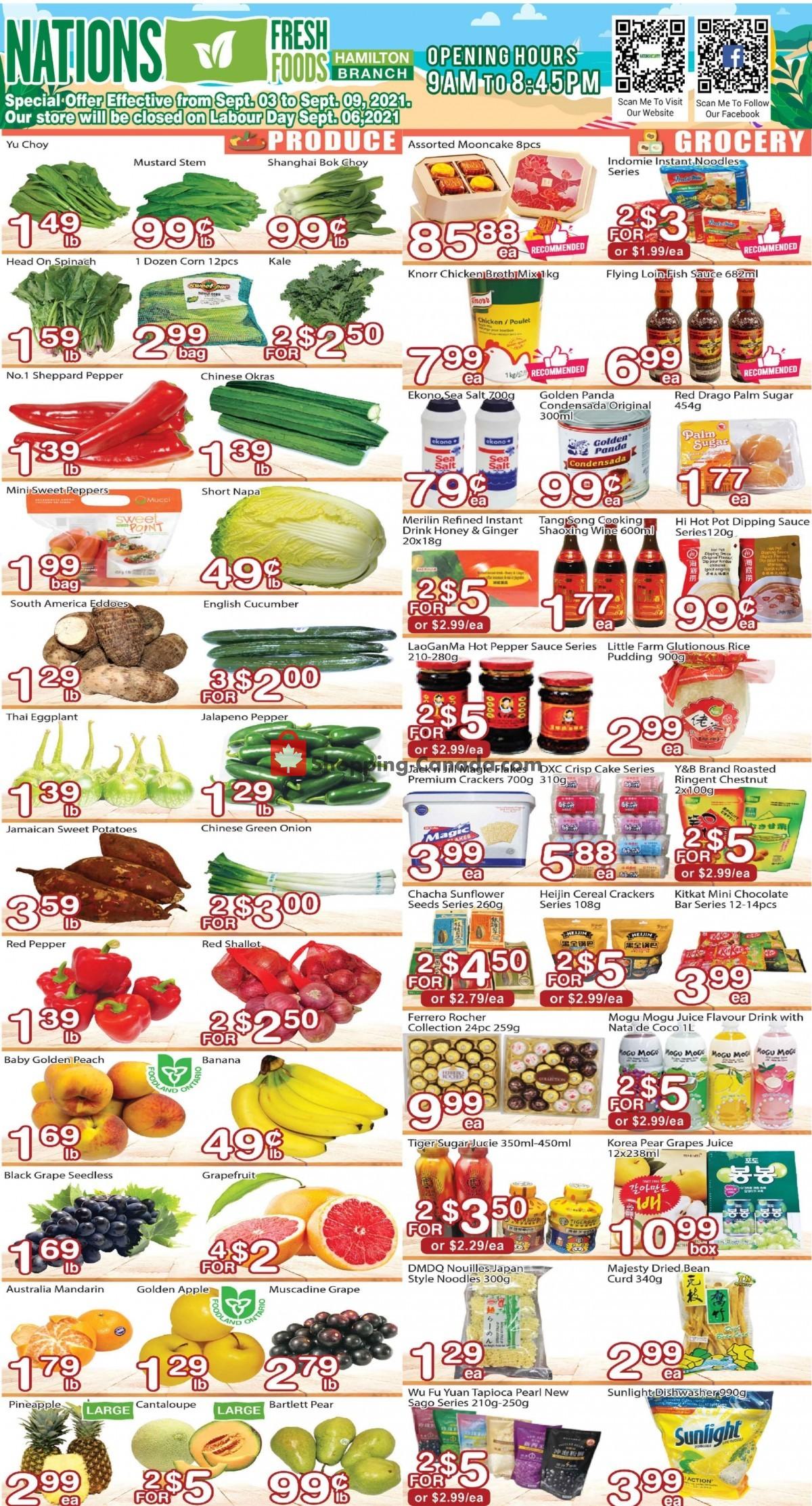 Flyer Nations Fresh Foods Canada - from Friday September 3, 2021 to Thursday September 9, 2021