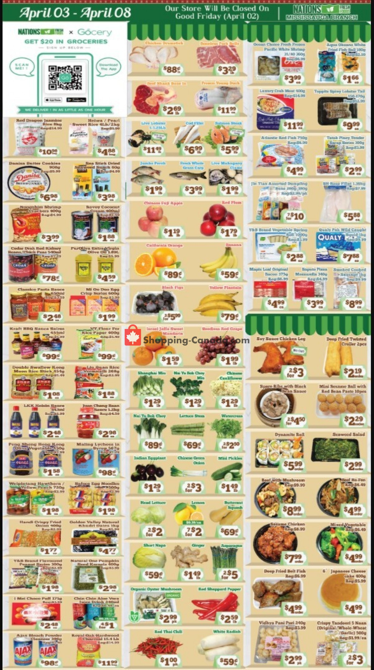 Flyer Nations Fresh Foods Canada - from Friday April 2, 2021 to Thursday April 8, 2021