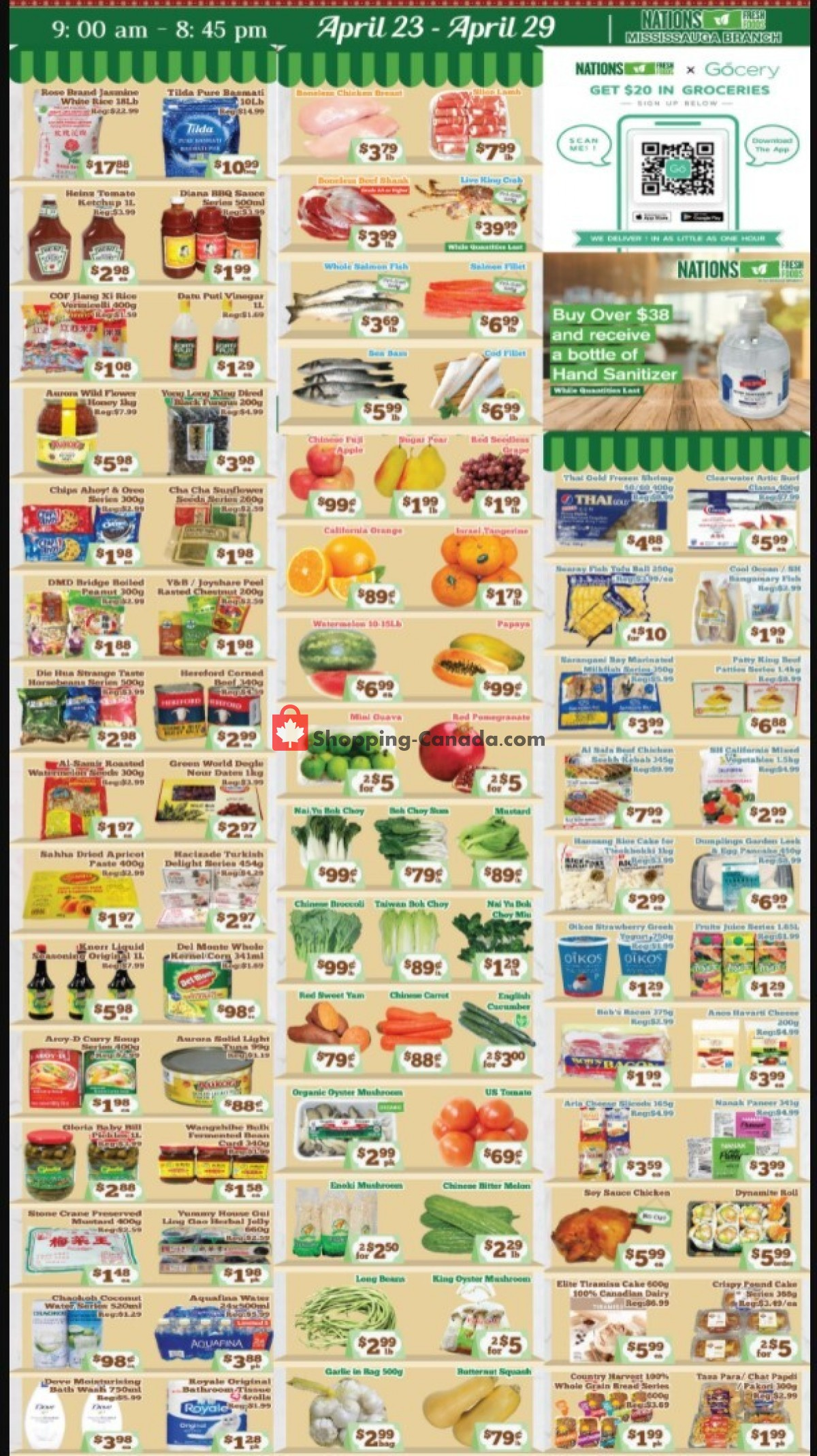 Flyer Nations Fresh Foods Canada - from Friday April 23, 2021 to Thursday April 29, 2021