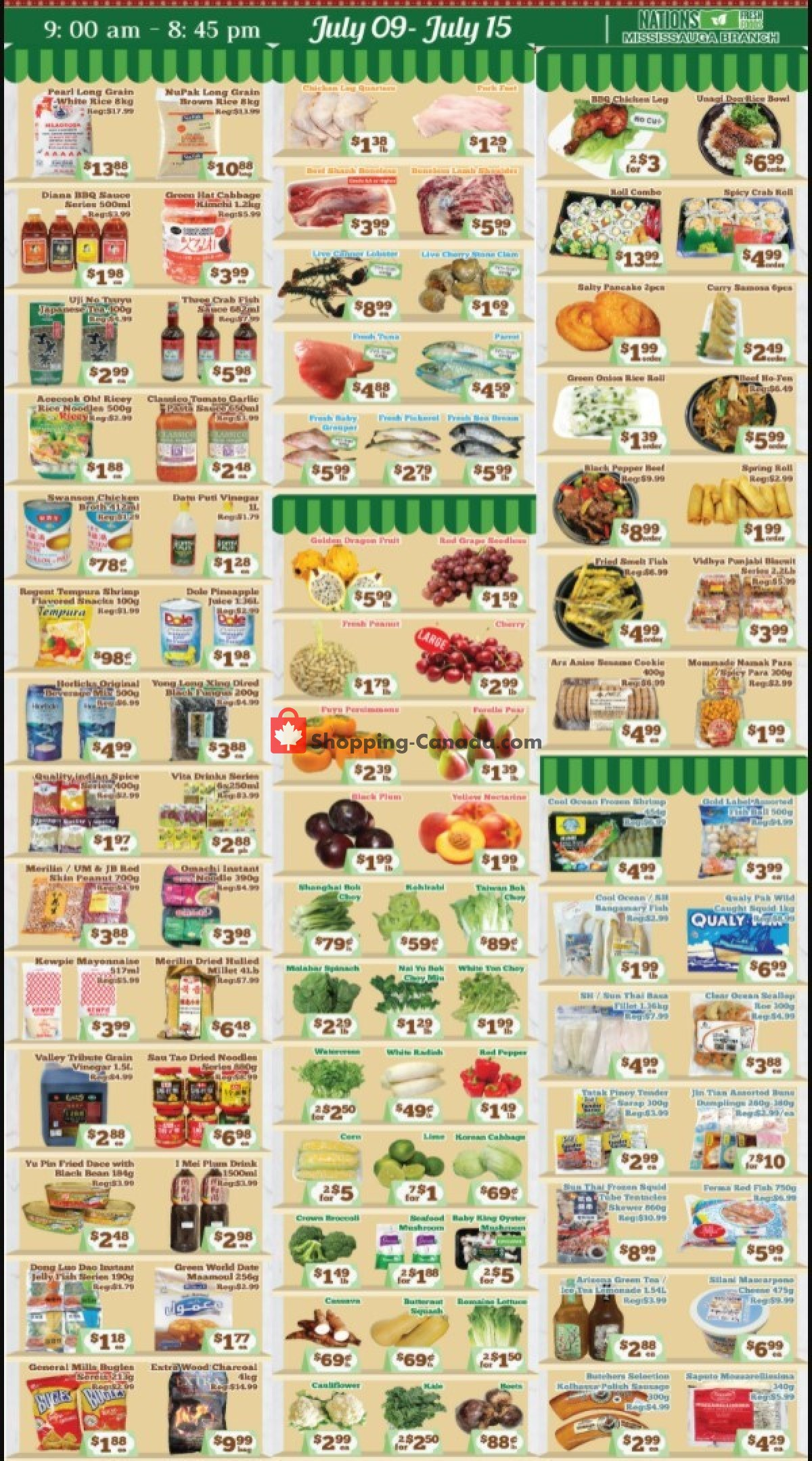 Flyer Nations Fresh Foods Canada - from Friday July 9, 2021 to Thursday July 15, 2021