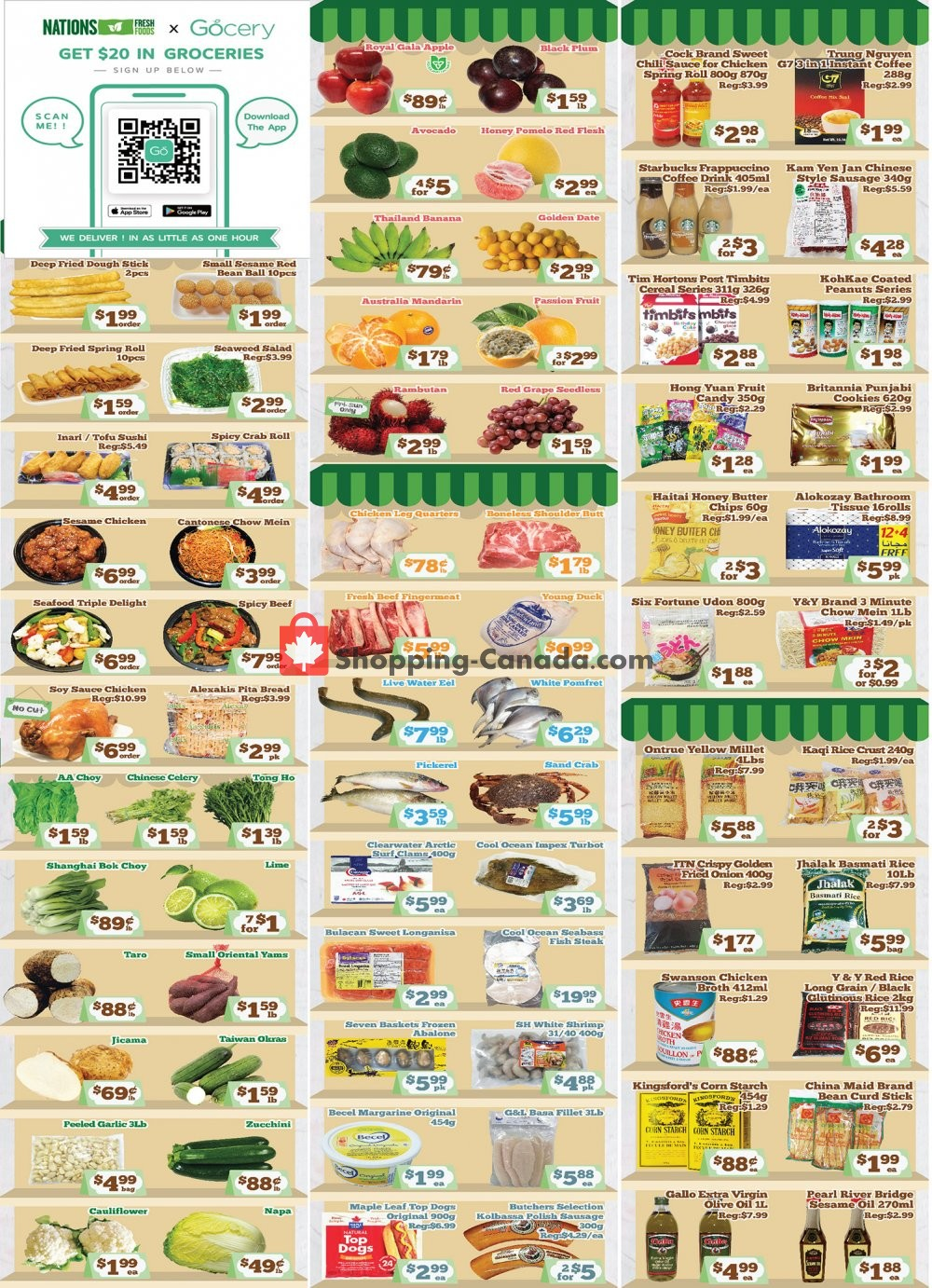 Flyer Nations Fresh Foods Canada - from Friday October 16, 2020 to Thursday October 22, 2020
