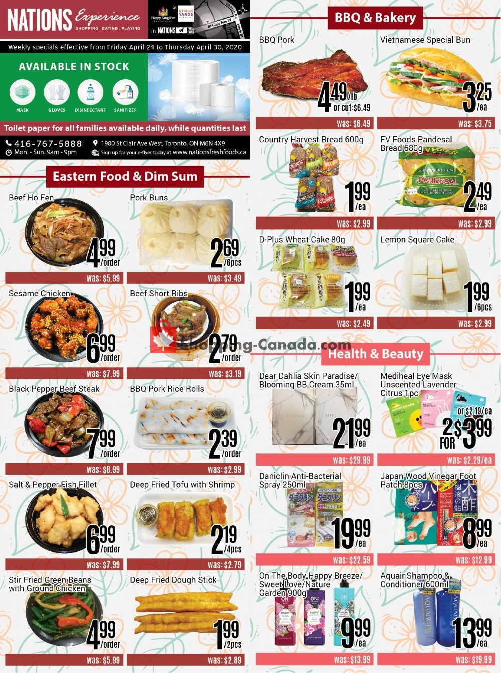 Flyer Nations Fresh Foods Canada - from Friday April 24, 2020 to Thursday April 30, 2020