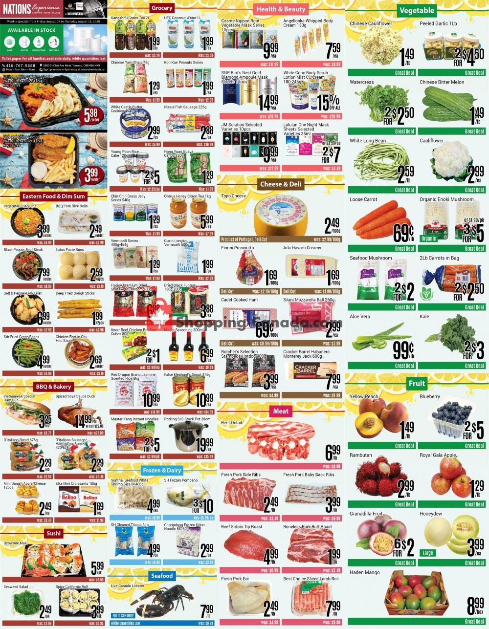 Flyer Nations Fresh Foods Canada - from Friday August 7, 2020 to Thursday August 13, 2020