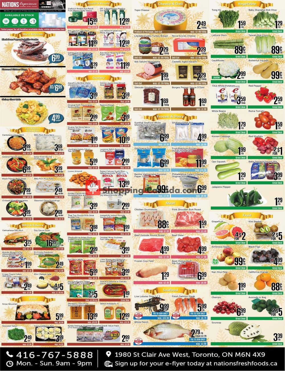 Flyer Nations Fresh Foods Canada - from Friday January 15, 2021 to Thursday January 21, 2021