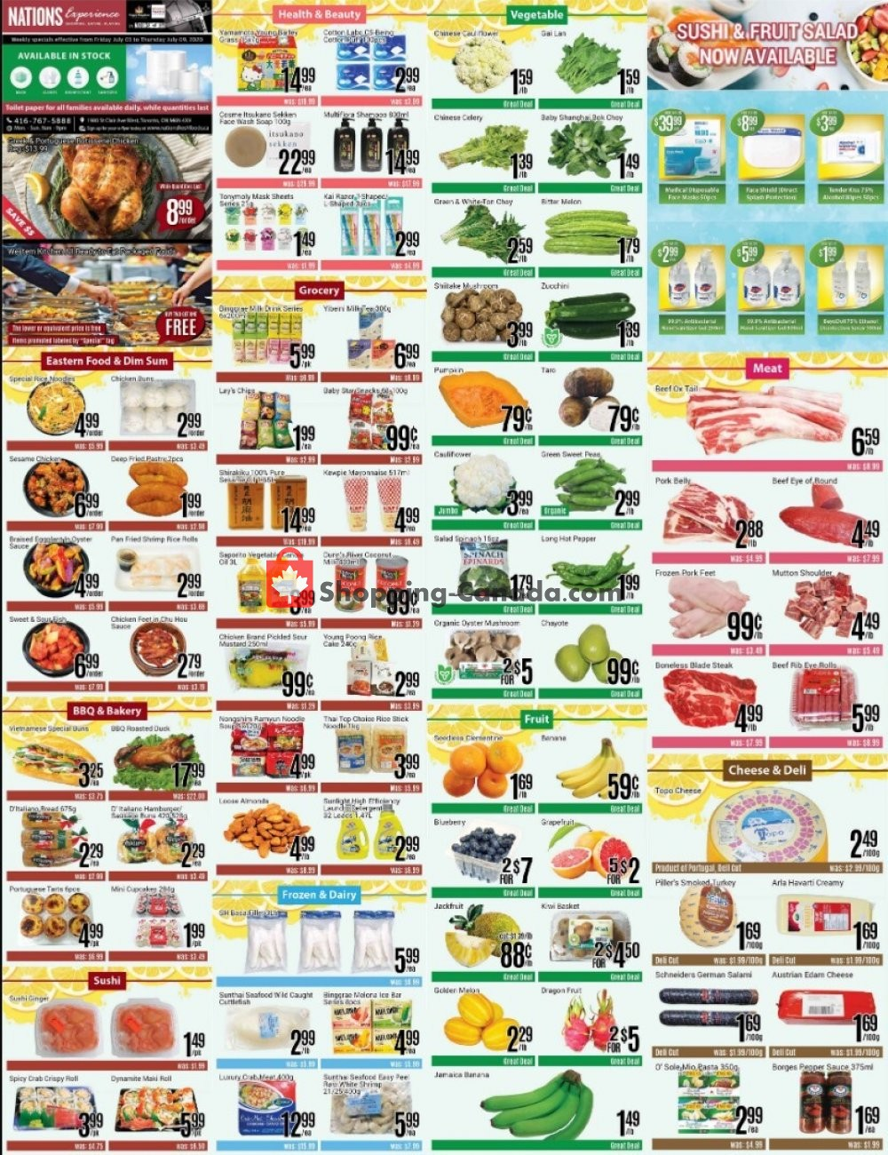 Flyer Nations Fresh Foods Canada - from Friday July 3, 2020 to Thursday July 9, 2020