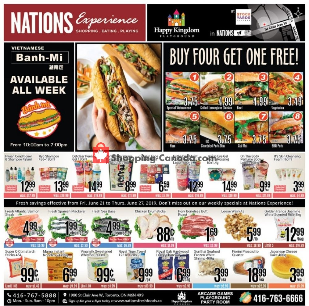 Flyer Nations Fresh Foods Canada - from Friday June 21, 2019 to Thursday June 27, 2019