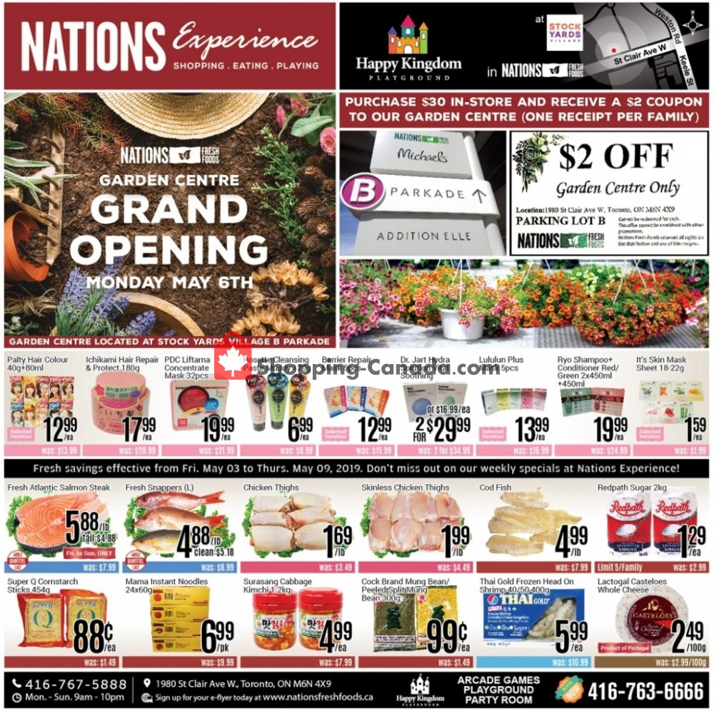 Flyer Nations Fresh Foods Canada - from Friday May 3, 2019 to Thursday May 9, 2019