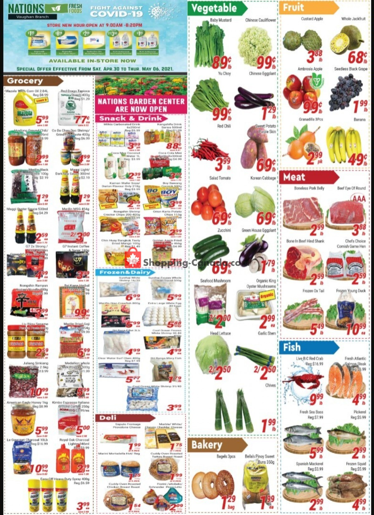 Flyer Nations Fresh Foods Canada - from Friday April 30, 2021 to Thursday May 6, 2021