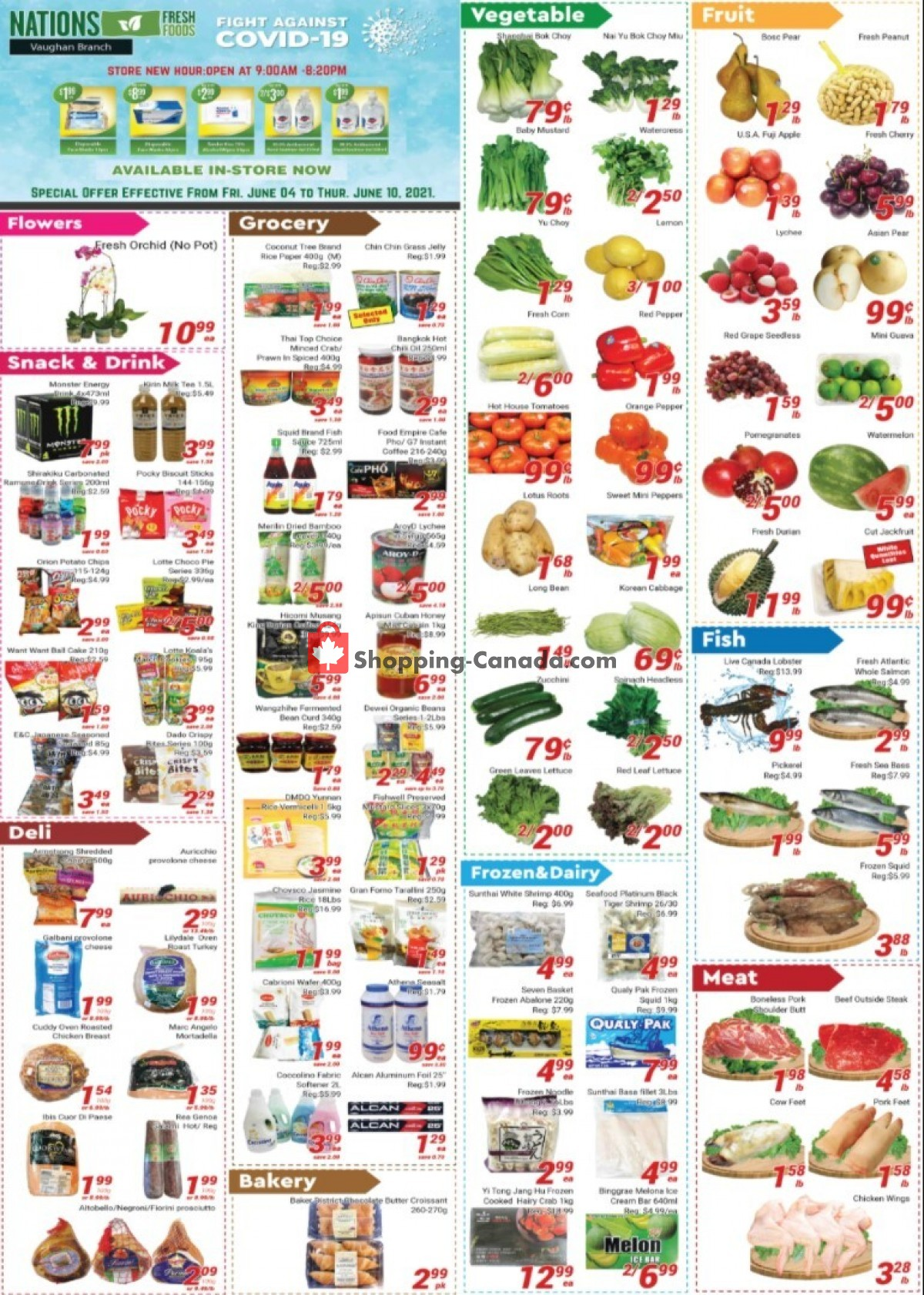 Flyer Nations Fresh Foods Canada - from Friday June 4, 2021 to Thursday June 10, 2021