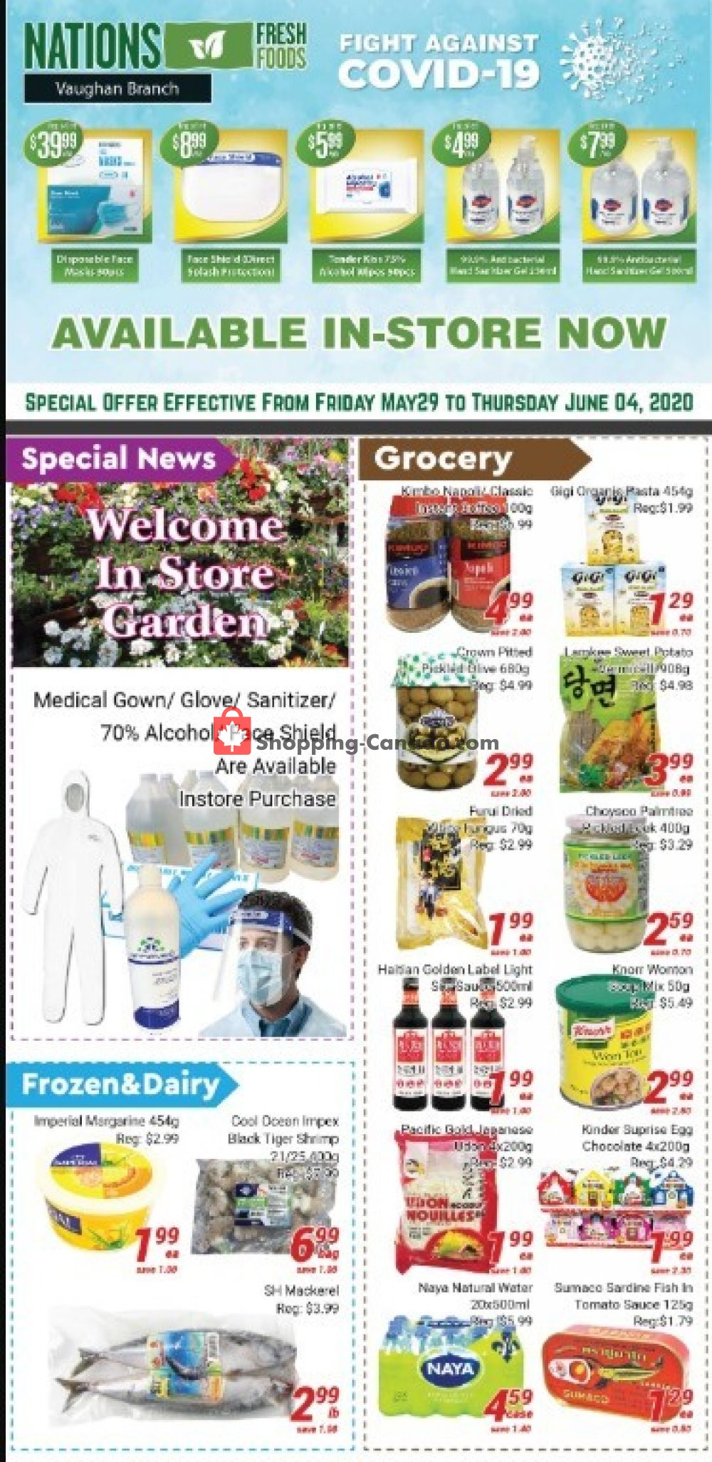 Flyer Nations Fresh Foods Canada - from Friday May 29, 2020 to Thursday June 4, 2020