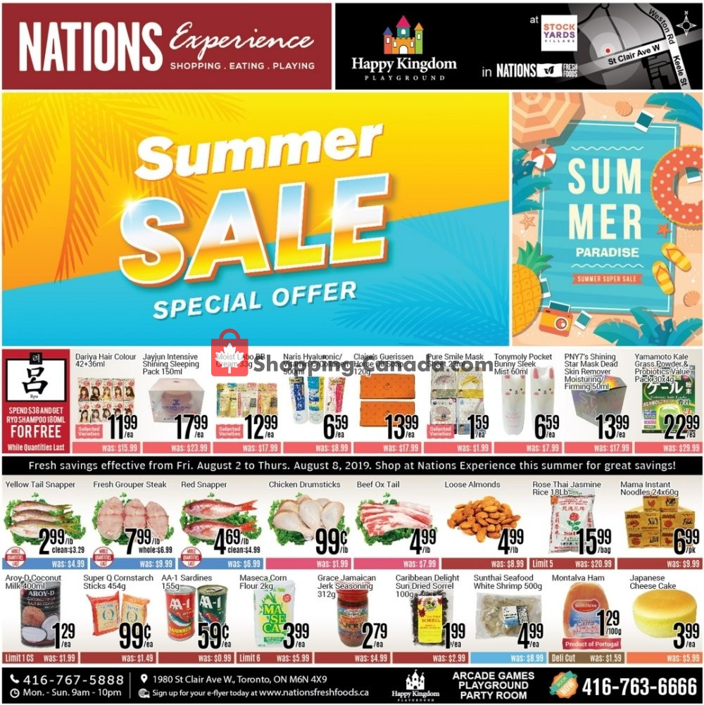 Flyer Nations Fresh Foods Canada - from Friday August 2, 2019 to Thursday August 8, 2019
