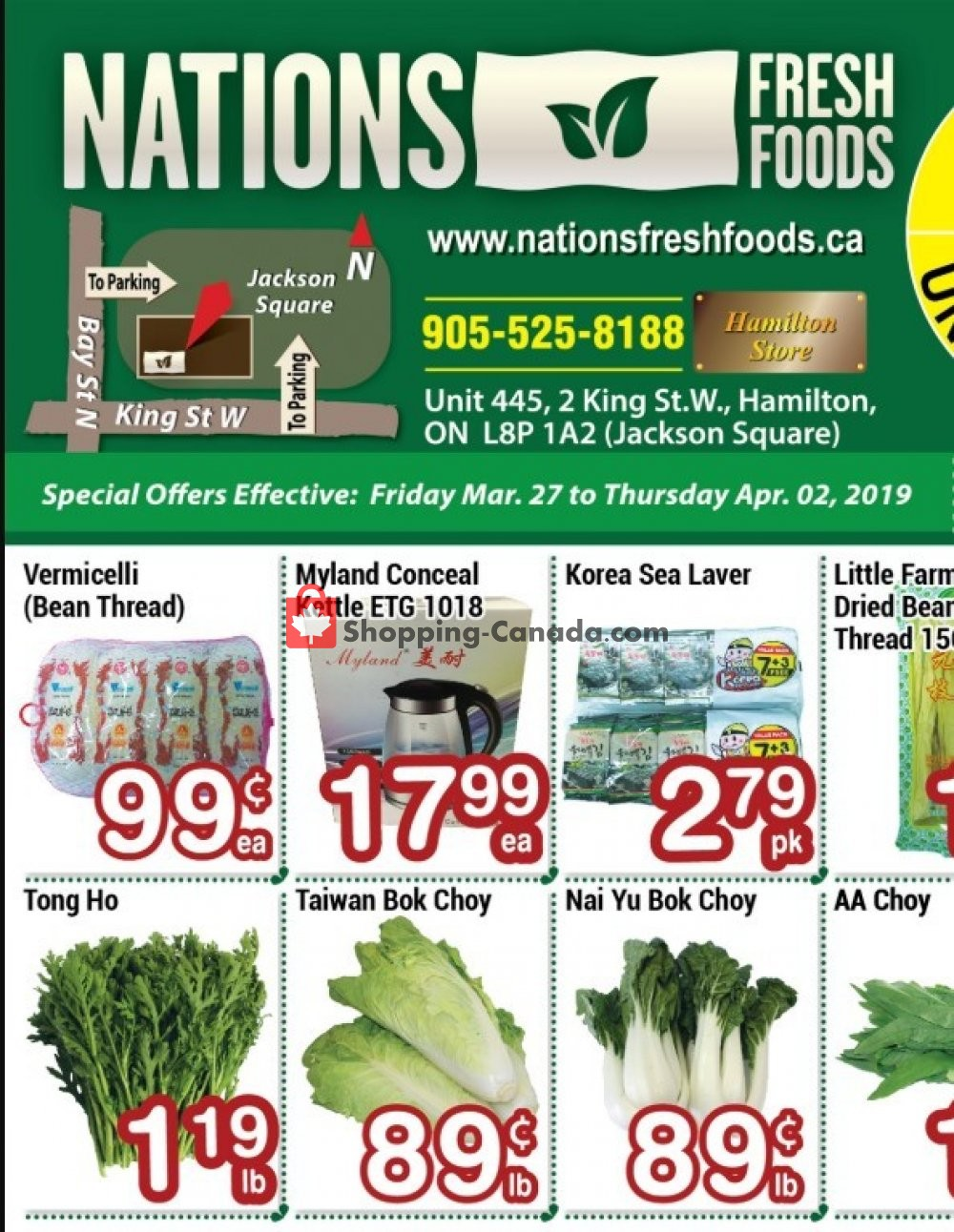 Flyer Nations Fresh Foods Canada - from Friday March 27, 2020 to Thursday April 2, 2020
