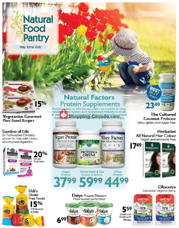 Flyer Natural Food Pantry Canada - from Saturday May 1, 2021 to Monday May 31, 2021