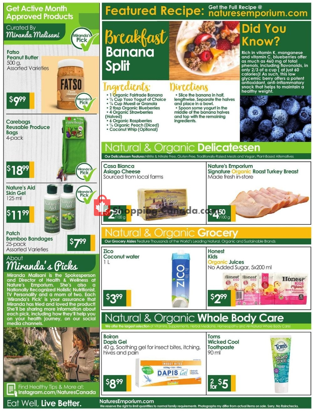 Flyer Nature's Emporium Canada - from Friday July 19, 2019 to Thursday August 1, 2019