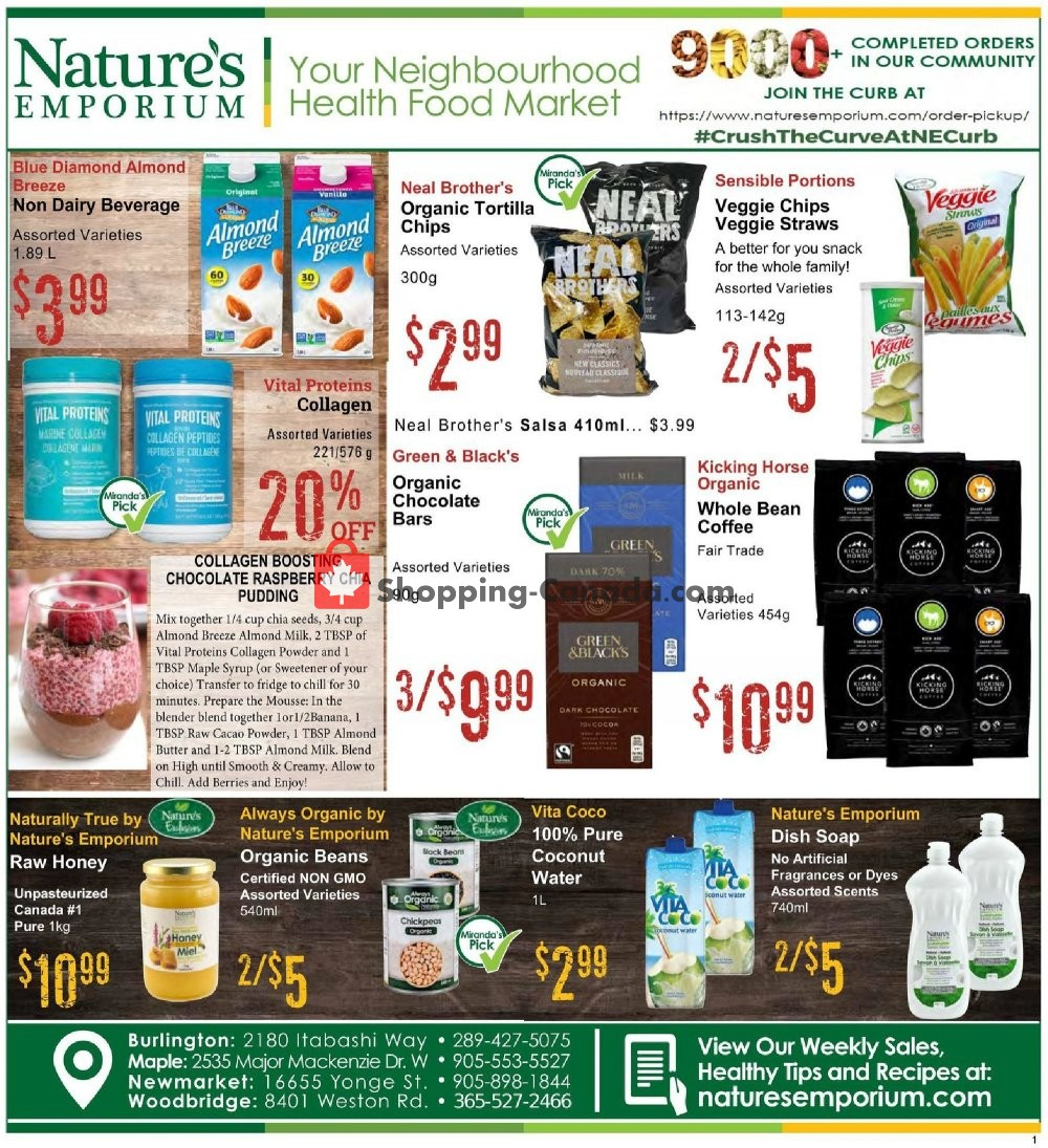 Flyer Nature's Emporium Canada - from Friday May 29, 2020 to Thursday June 11, 2020