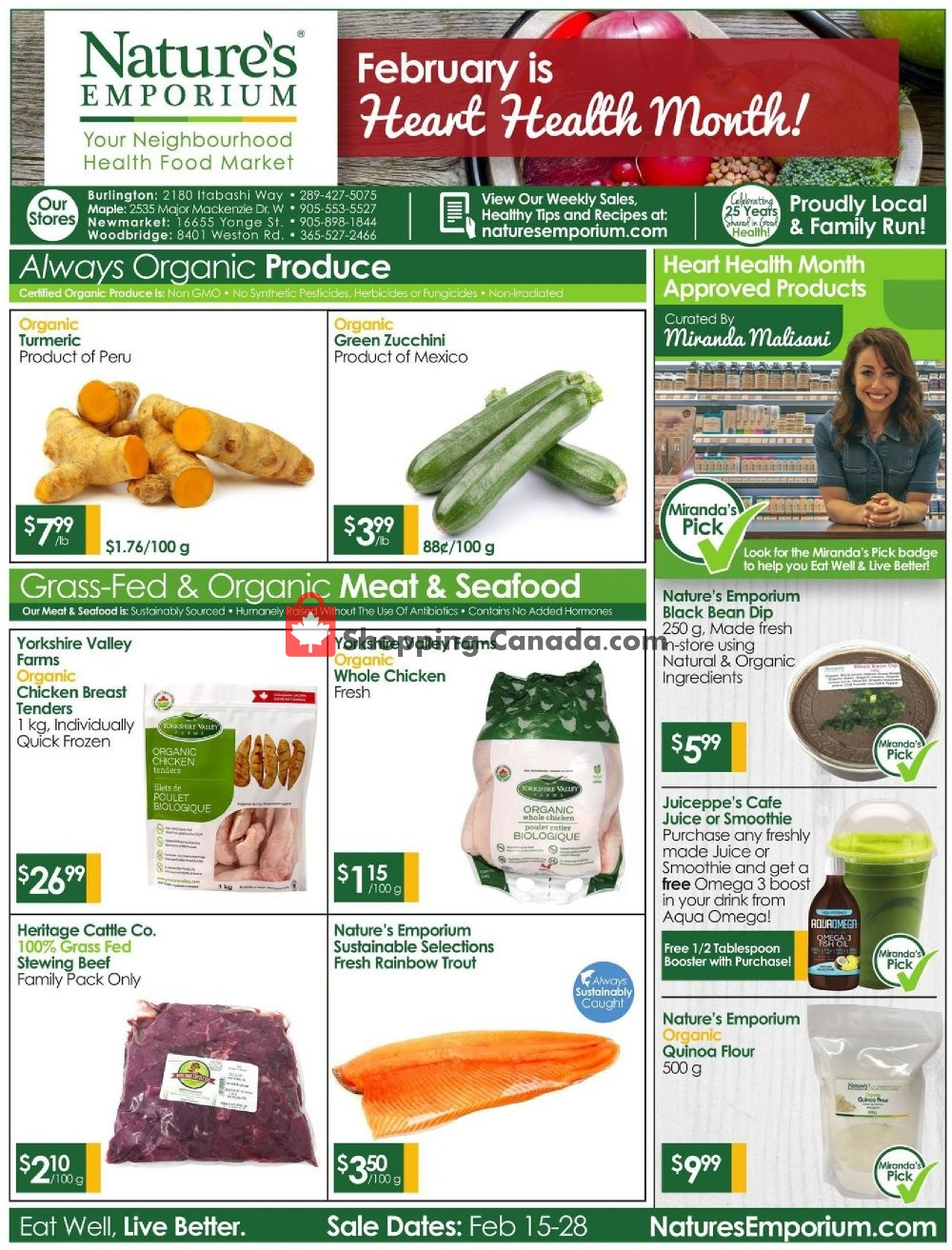 Flyer Nature's Emporium Canada - from Friday February 15, 2019 to Thursday February 28, 2019