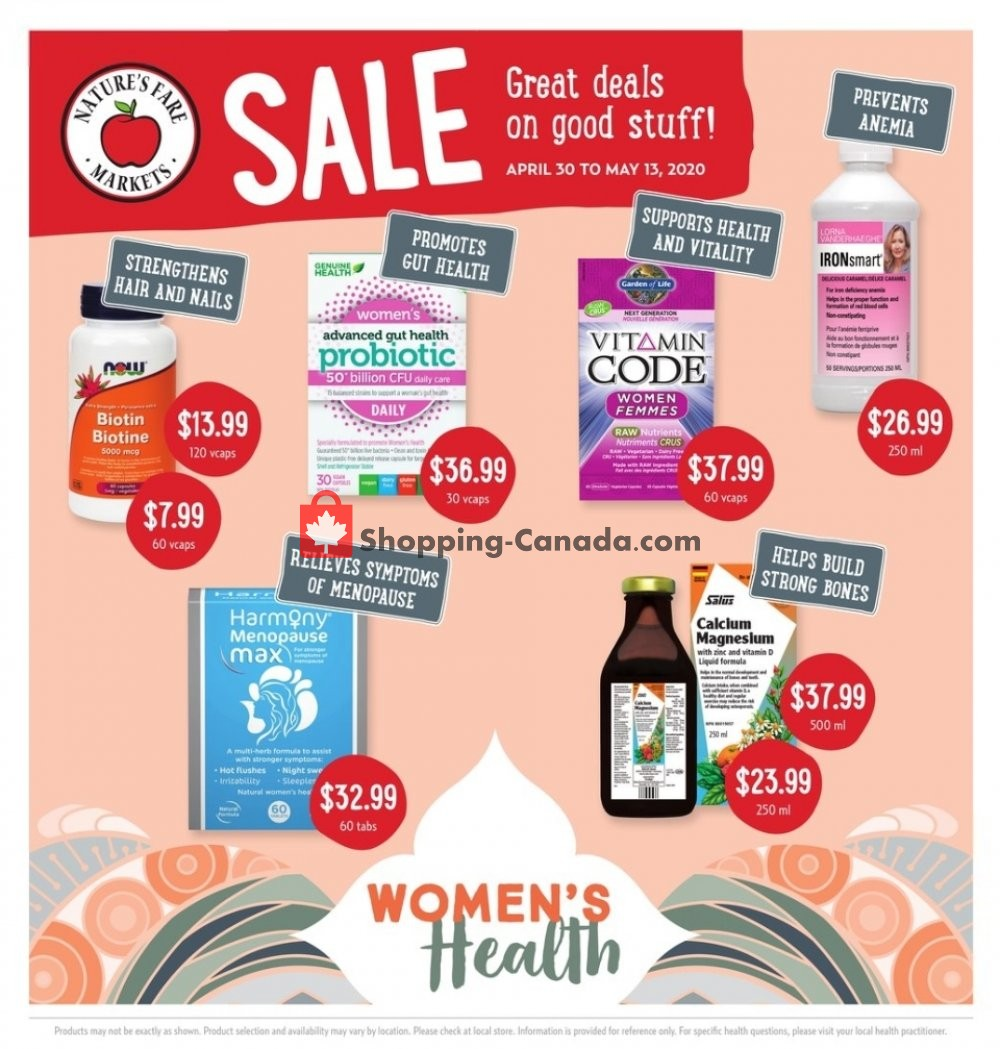 Flyer Nature's Fare Markets Canada - from Thursday April 30, 2020 to Wednesday May 13, 2020