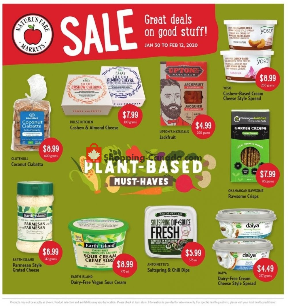 Flyer Nature's Fare Markets Canada - from Thursday January 30, 2020 to Wednesday February 12, 2020