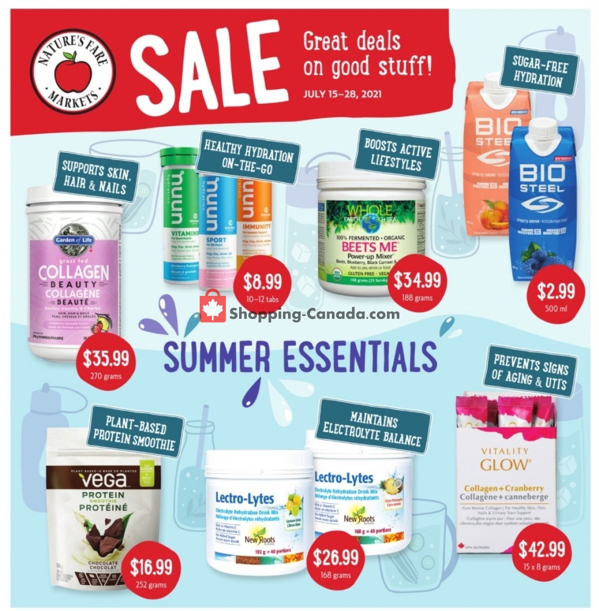 Flyer Nature's Fare Markets Canada - from Thursday July 15, 2021 to Wednesday July 28, 2021