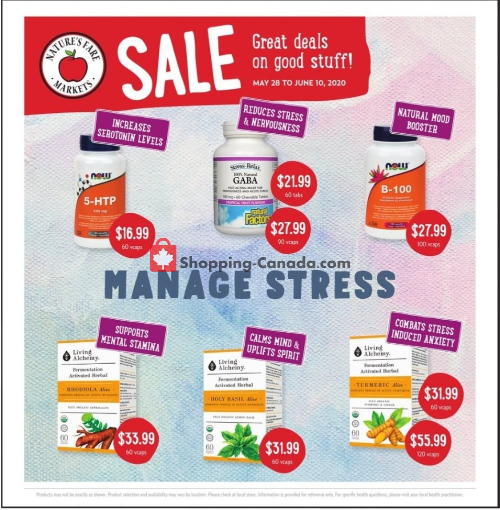 Flyer Nature's Fare Markets Canada - from Thursday May 28, 2020 to Wednesday June 10, 2020