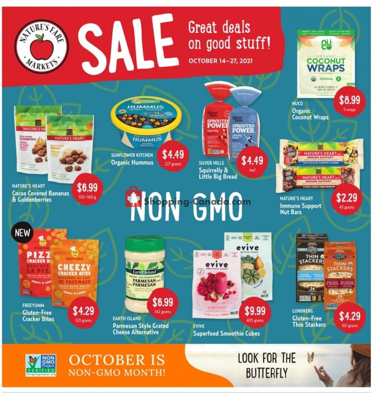 Flyer Nature's Fare Markets Canada - from Thursday October 14, 2021 to Wednesday October 27, 2021