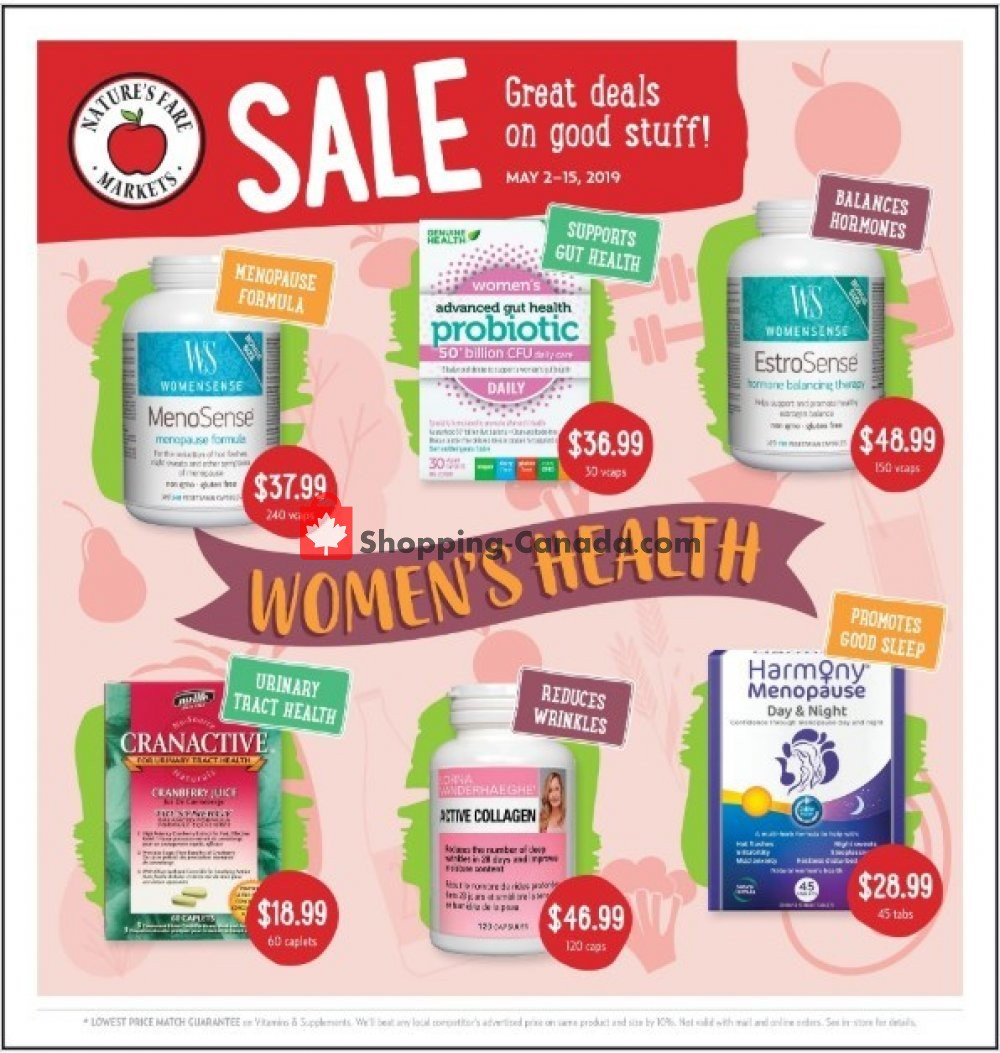 Flyer Nature's Fare Markets Canada - from Thursday May 2, 2019 to Wednesday May 15, 2019