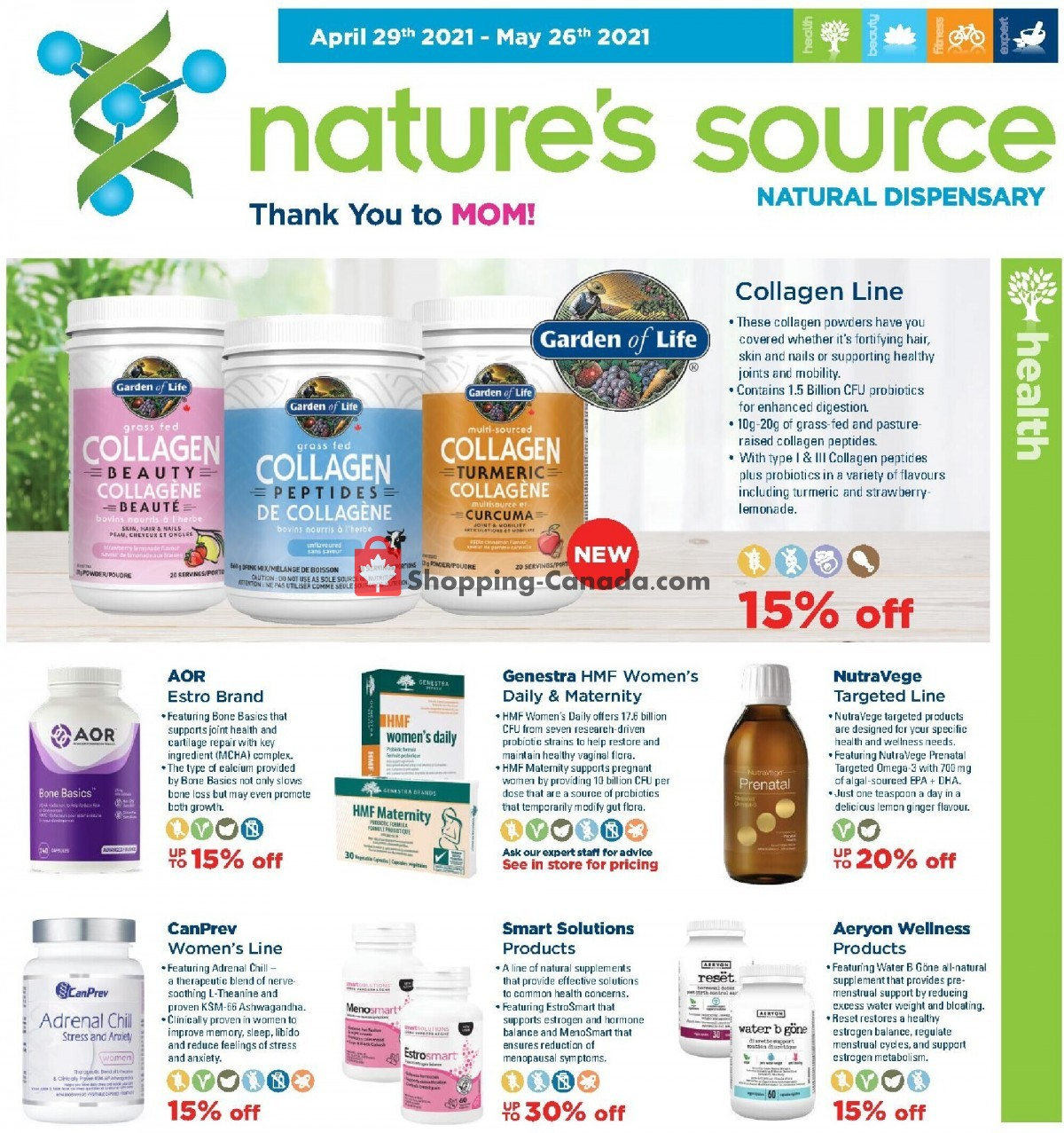 Flyer Nature's Source Canada - from Thursday April 29, 2021 to Wednesday May 26, 2021