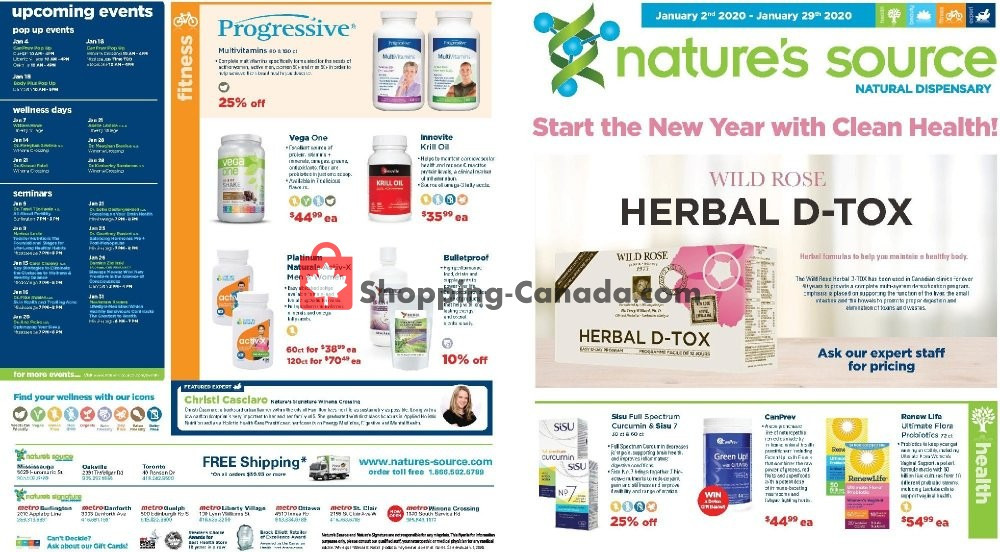 Flyer Nature's Source Canada - from Sunday February 2, 2020 to Saturday February 29, 2020