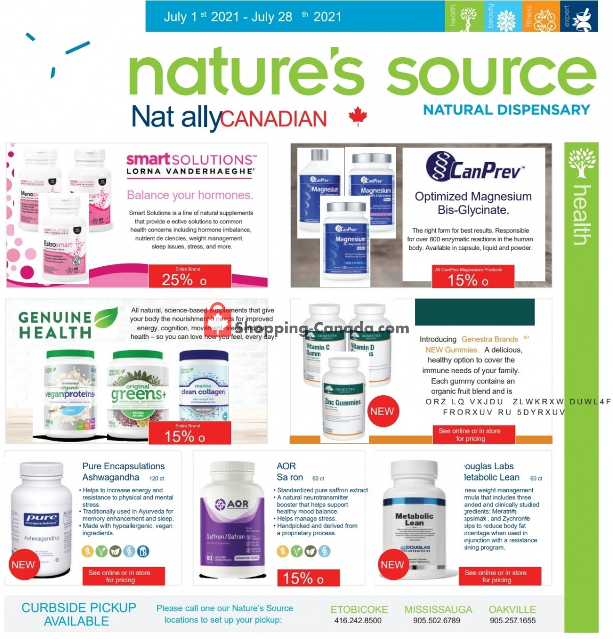 Flyer Nature's Source Canada - from Thursday July 1, 2021 to Wednesday July 28, 2021