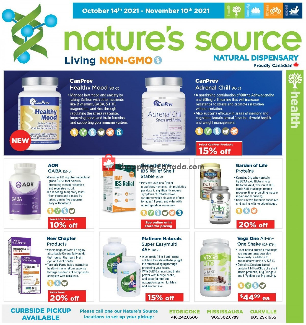 Flyer Nature's Source Canada - from Thursday October 14, 2021 to Wednesday November 10, 2021