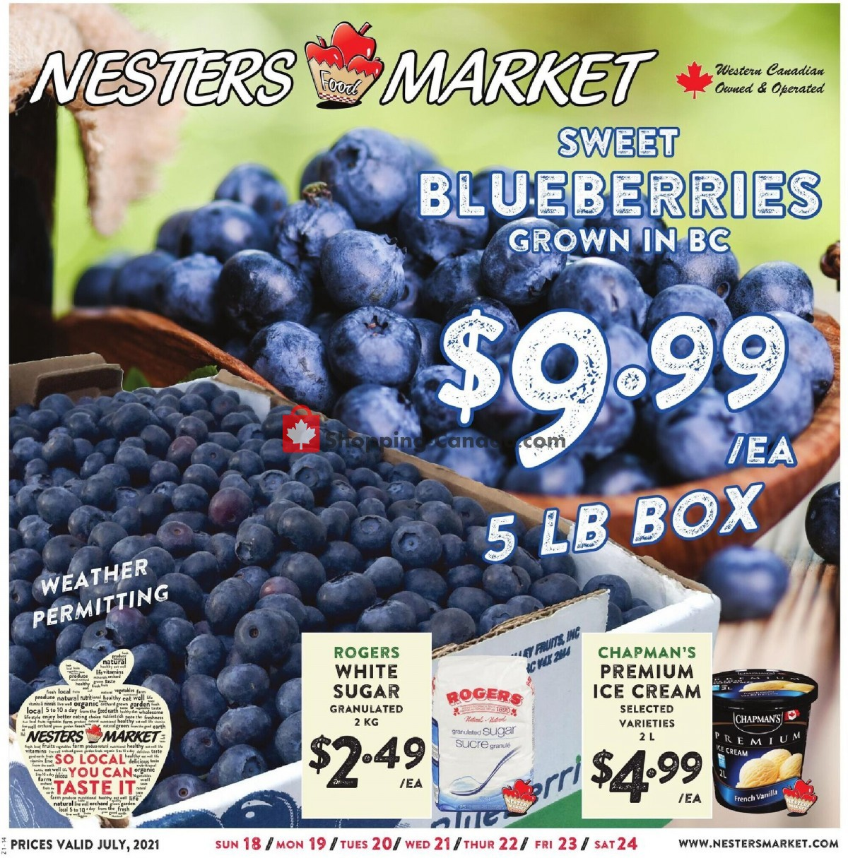 Flyer Nesters Market Grocery Stores Canada - from Sunday July 18, 2021 to Saturday July 24, 2021