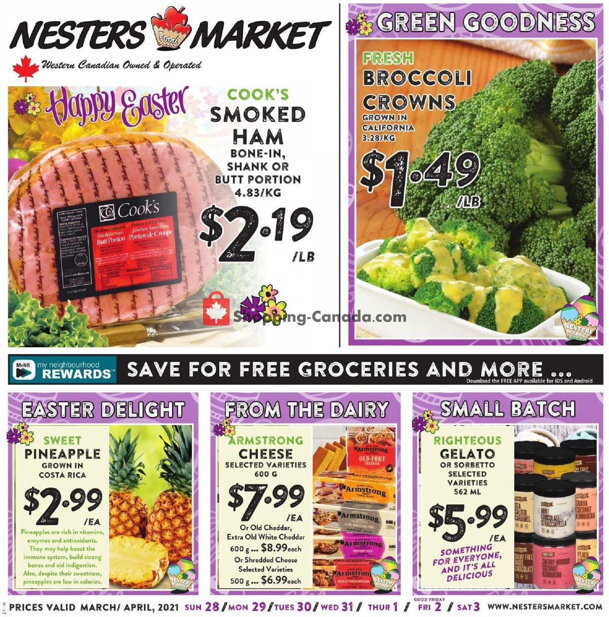 Flyer Nesters Market Grocery Stores Canada - from Sunday March 28, 2021 to Saturday April 3, 2021