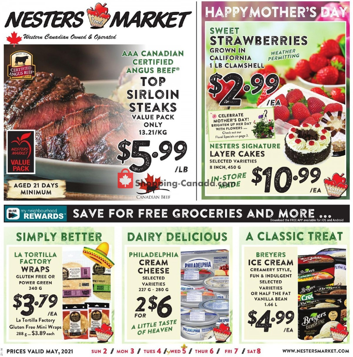Flyer Nesters Market Grocery Stores Canada - from Sunday May 2, 2021 to Saturday May 8, 2021