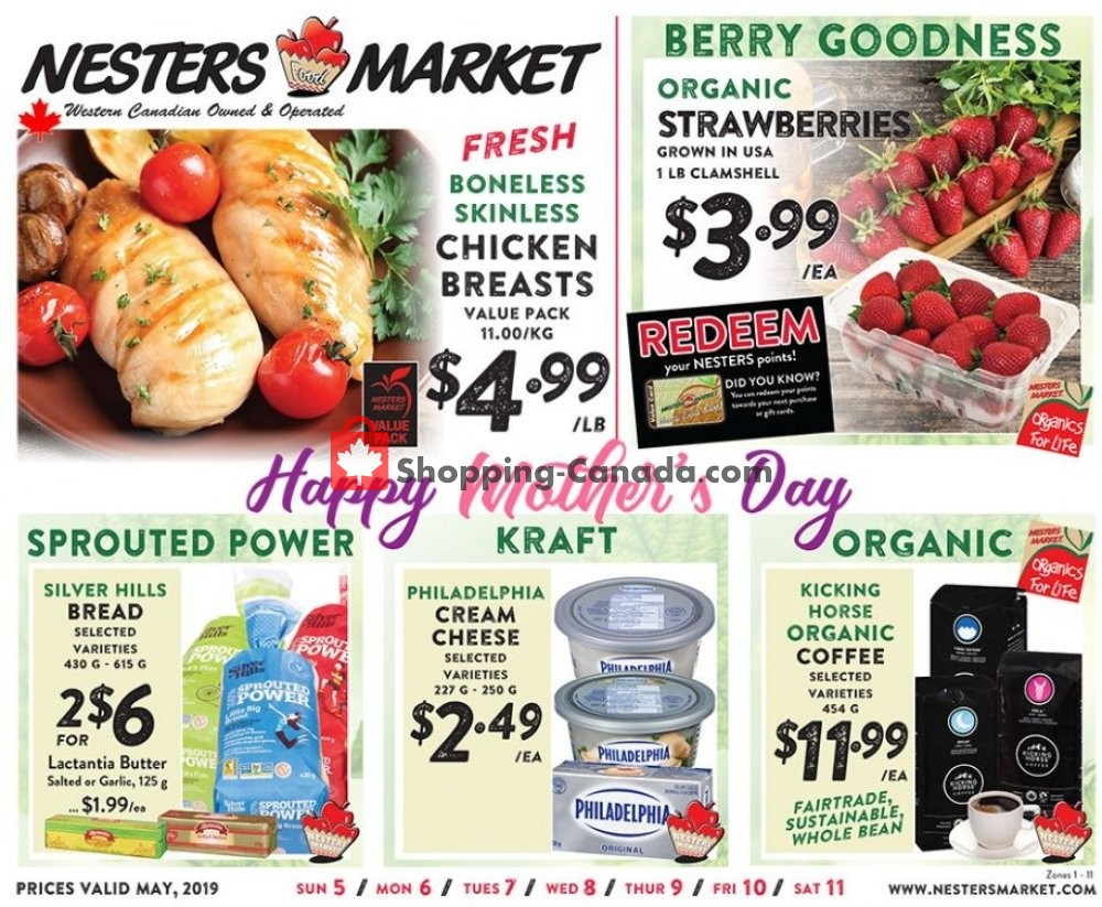 Flyer Nesters Market Grocery Stores Canada - from Sunday May 5, 2019 to Saturday May 11, 2019