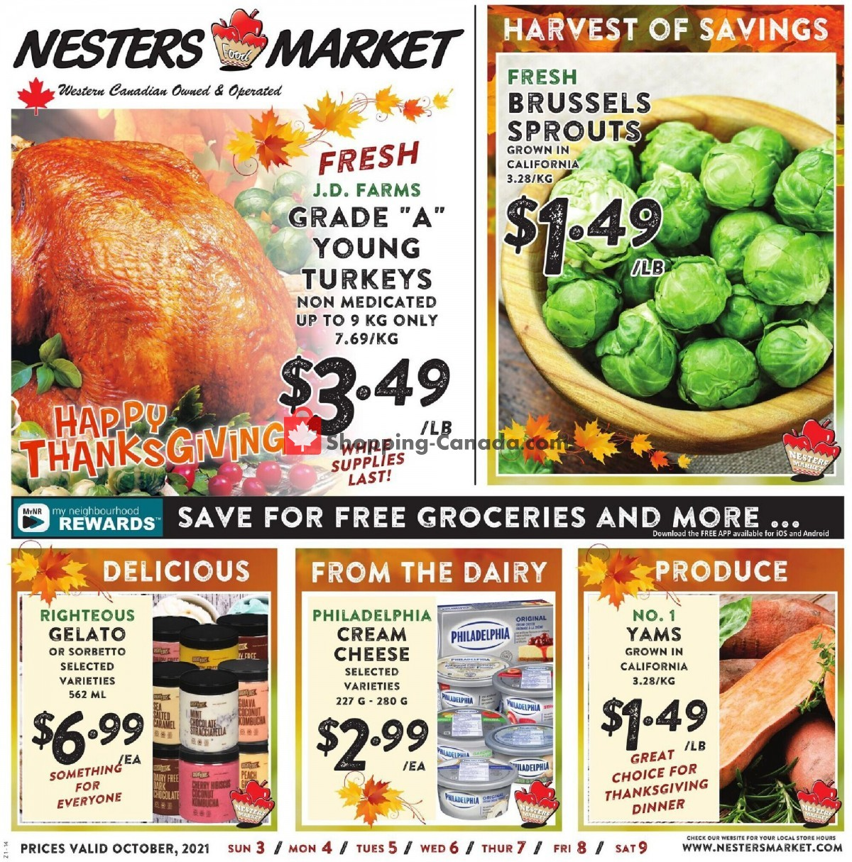Flyer Nesters Market Grocery Stores Canada - from Sunday October 3, 2021 to Saturday October 9, 2021