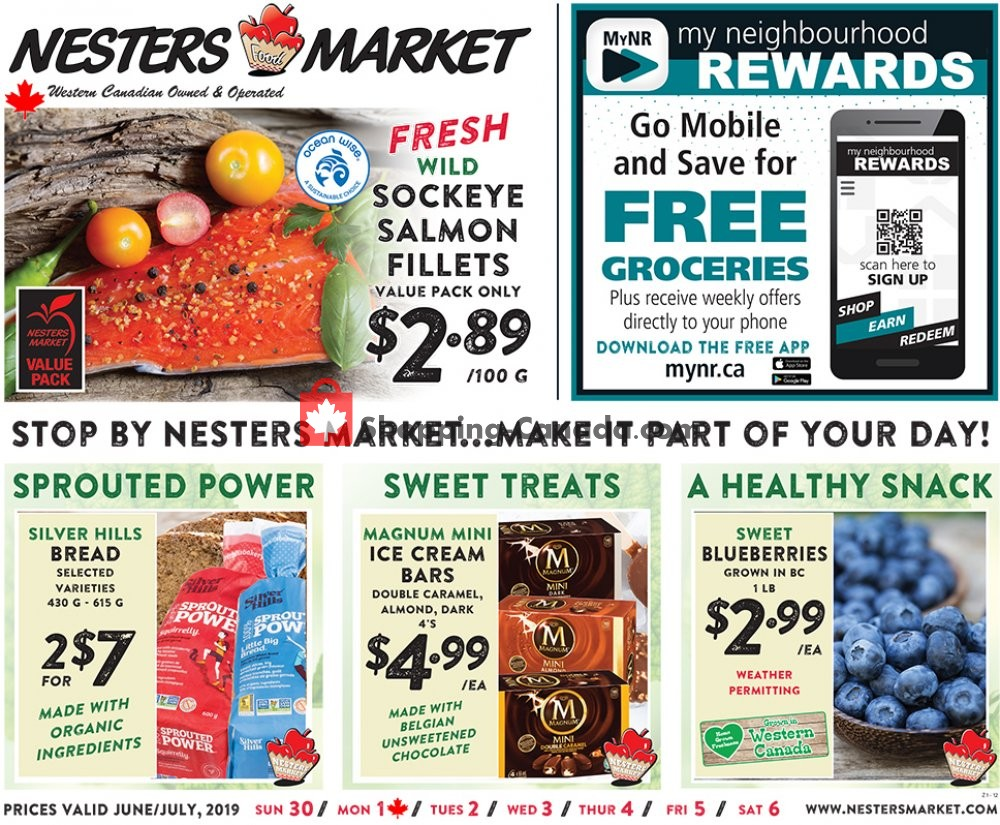 Flyer Nesters Market Grocery Stores Canada - from Sunday June 30, 2019 to Saturday July 6, 2019