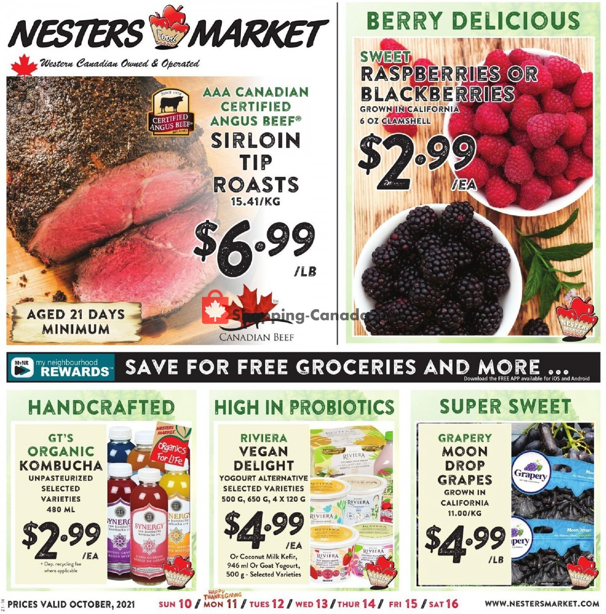 Flyer Nesters Market Grocery Stores Canada - from Sunday October 10, 2021 to Saturday October 16, 2021
