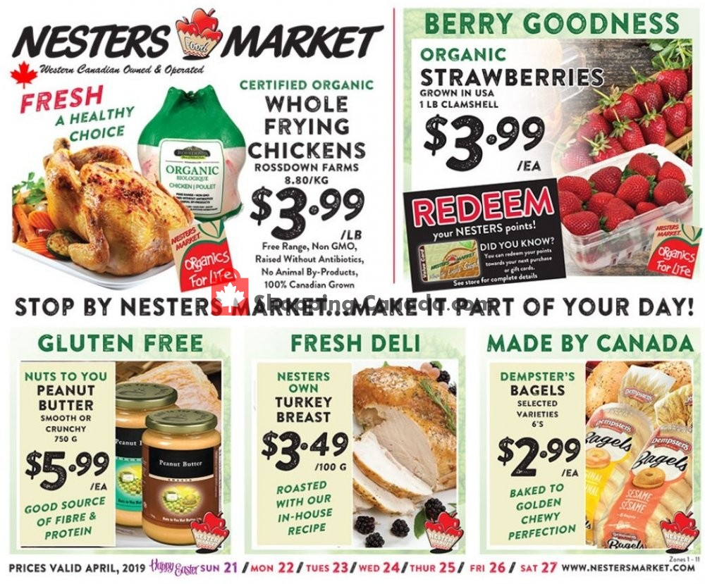 Flyer Nesters Market Grocery Stores Canada - from Sunday April 21, 2019 to Saturday April 27, 2019
