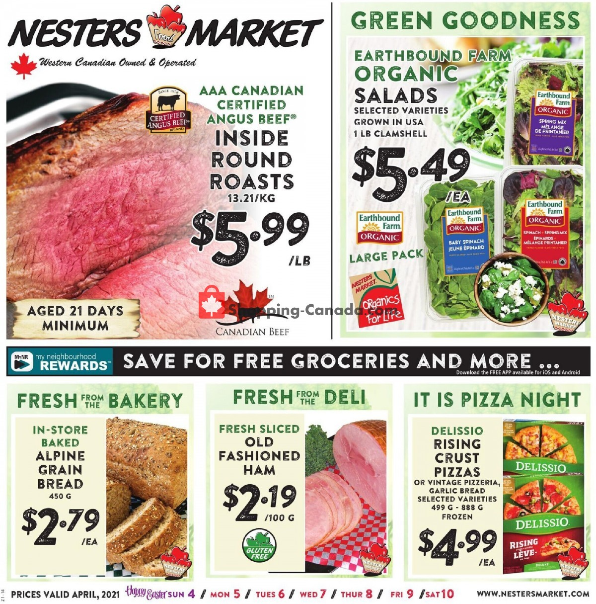 Flyer Nesters Market Grocery Stores Canada - from Sunday April 4, 2021 to Saturday April 10, 2021