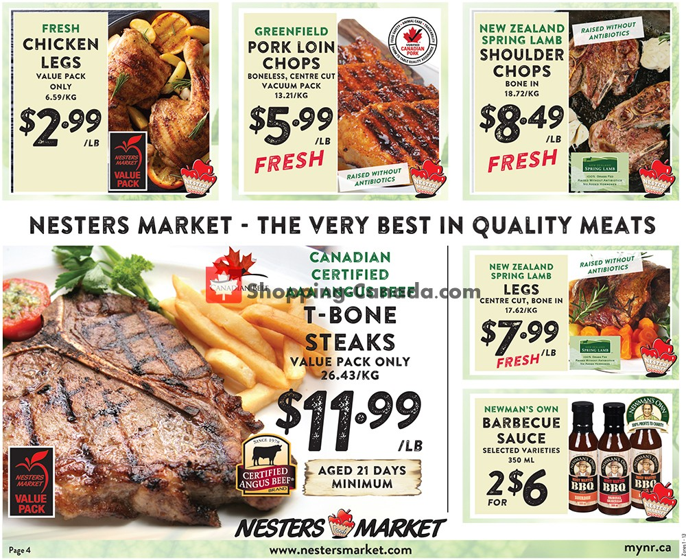 Flyer Nesters Market Grocery Stores Canada - from Sunday August 11, 2019 to Saturday August 17, 2019