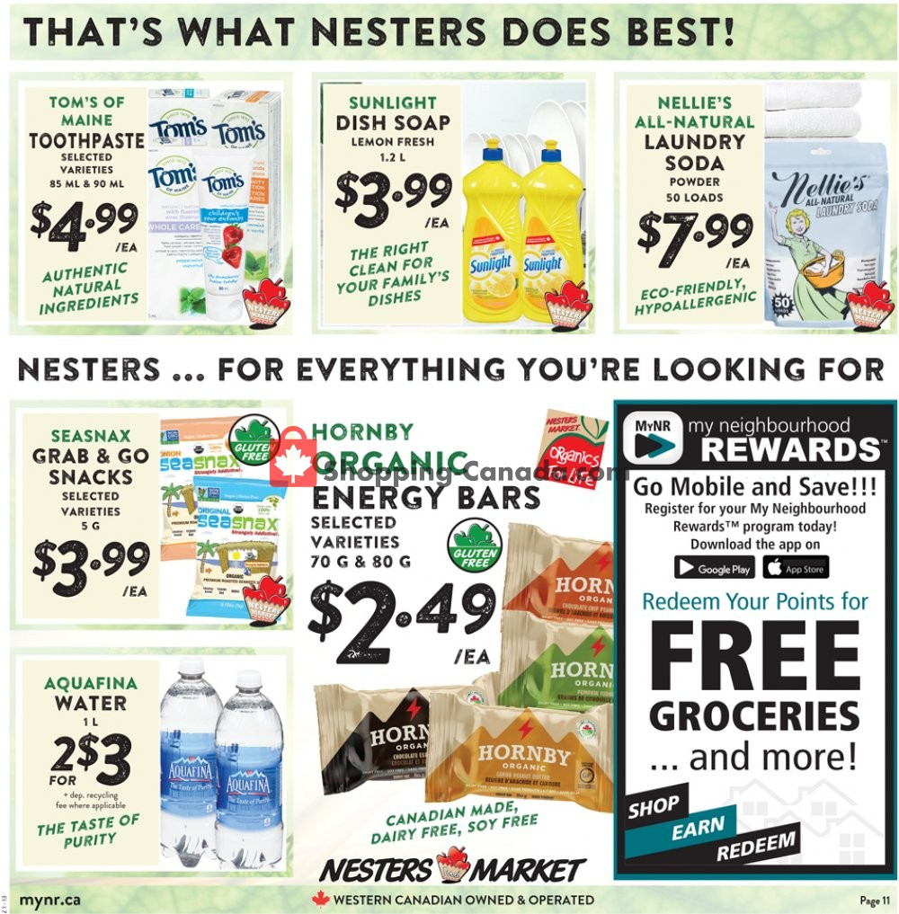 Flyer Nesters Market Grocery Stores Canada - from Sunday January 12, 2020 to Saturday January 18, 2020