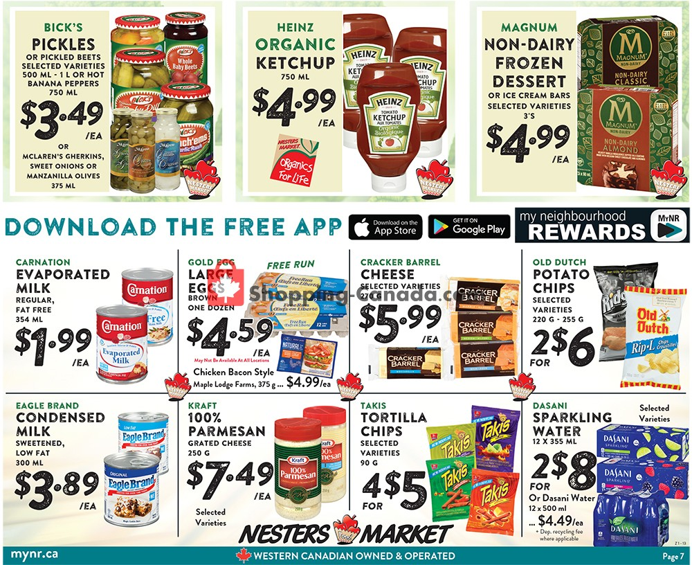 Flyer Nesters Market Grocery Stores Canada - from Sunday July 21, 2019 to Saturday July 27, 2019