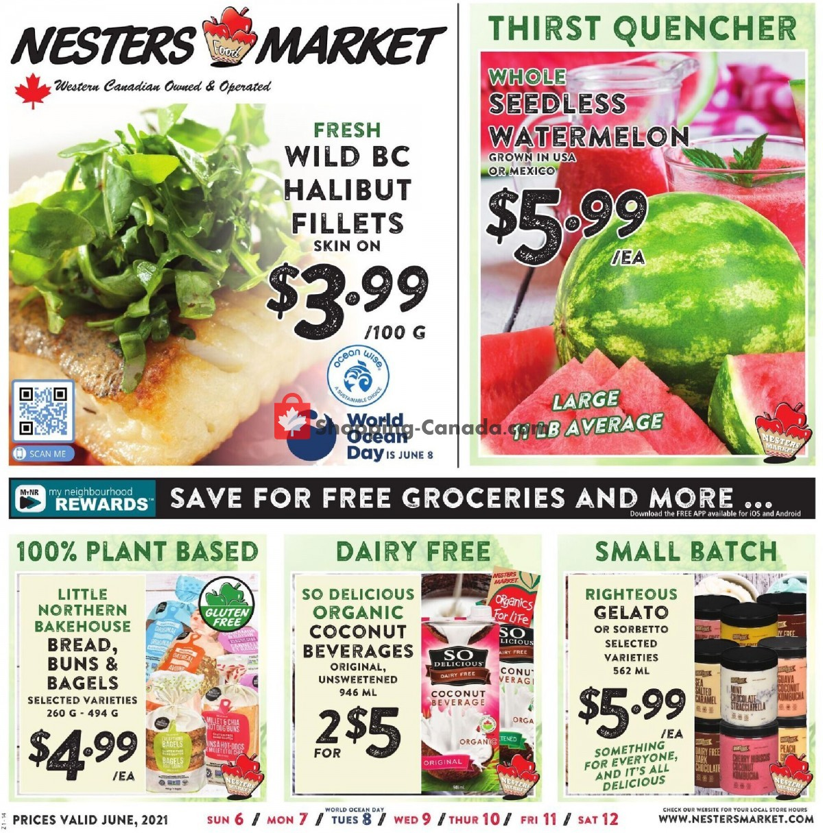 Flyer Nesters Market Grocery Stores Canada - from Sunday June 6, 2021 to Saturday June 12, 2021