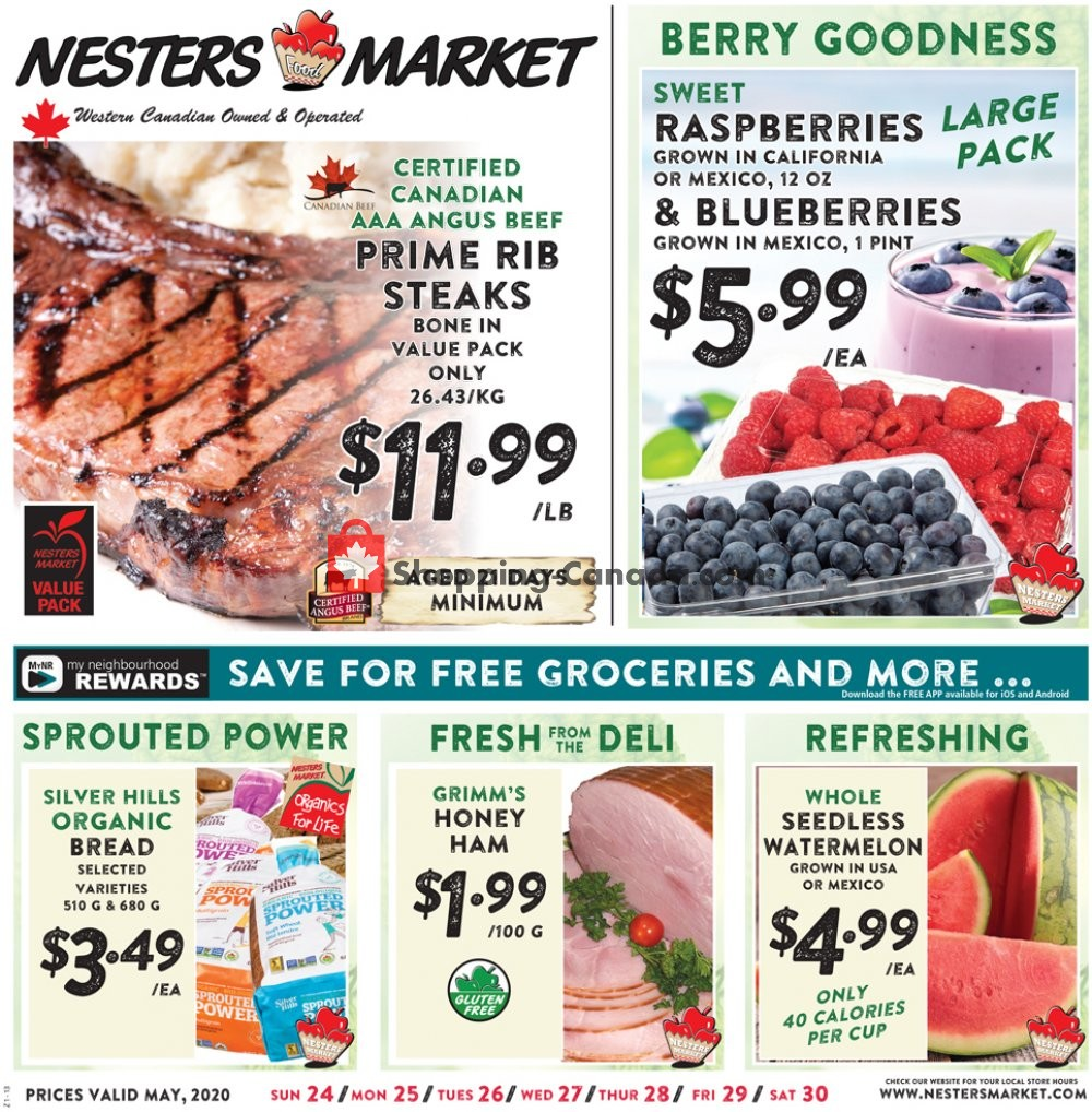 Flyer Nesters Market Grocery Stores Canada - from Sunday May 24, 2020 to Saturday May 30, 2020