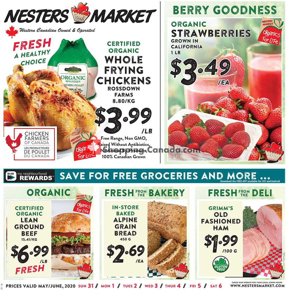 Flyer Nesters Market Grocery Stores Canada - from Sunday May 31, 2020 to Saturday June 6, 2020