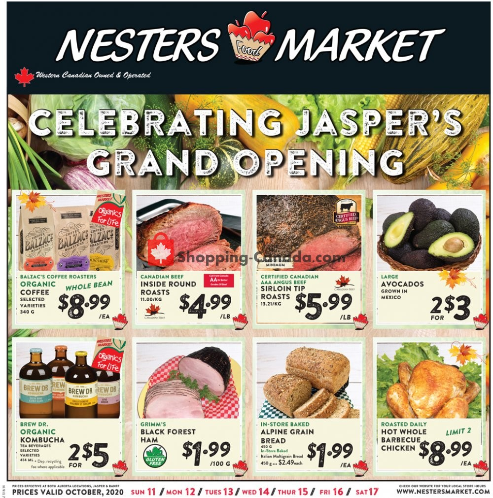 Flyer Nesters Market Grocery Stores Canada - from Sunday October 11, 2020 to Saturday October 17, 2020