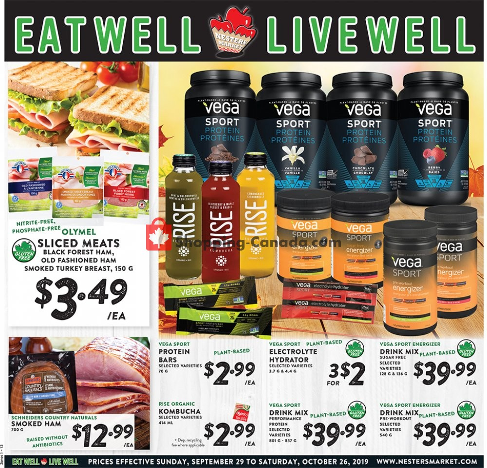 Flyer Nesters Market Grocery Stores Canada - from Sunday October 6, 2019 to Saturday October 12, 2019