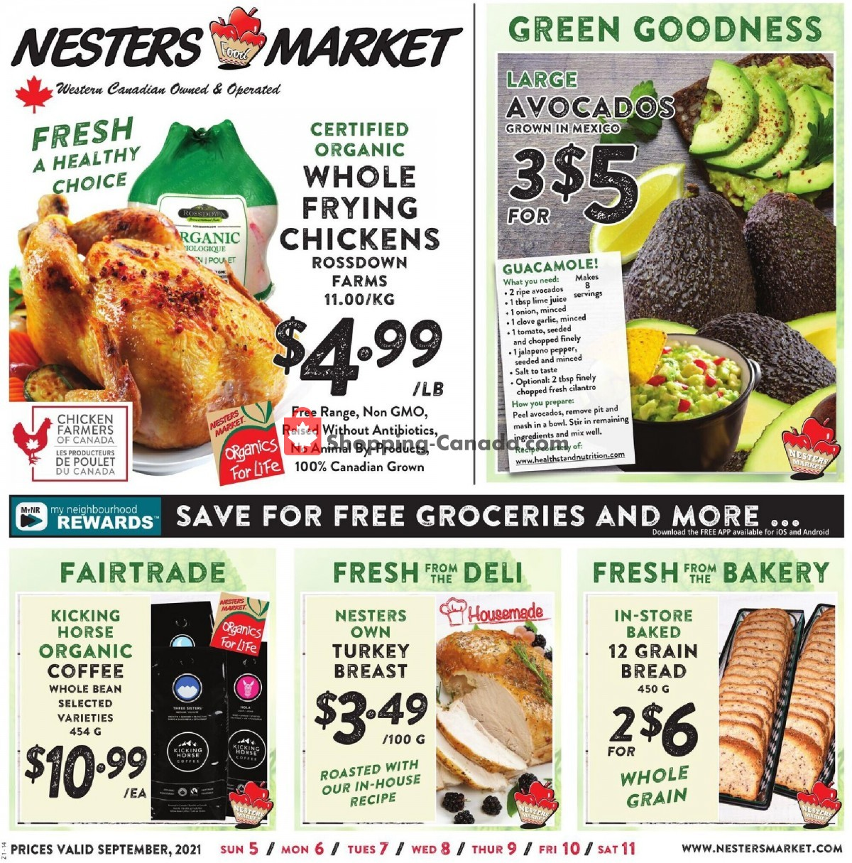 Flyer Nesters Market Grocery Stores Canada - from Sunday September 5, 2021 to Saturday September 11, 2021