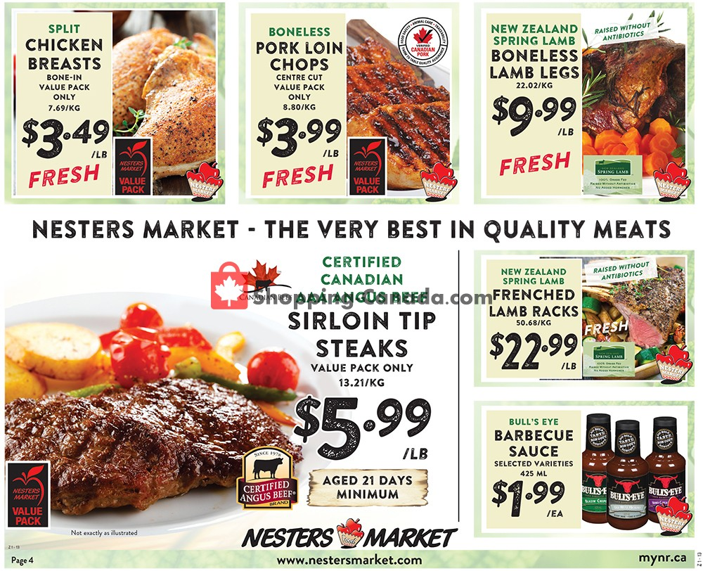 Flyer Nesters Market Grocery Stores Canada - from Sunday September 8, 2019 to Saturday September 14, 2019