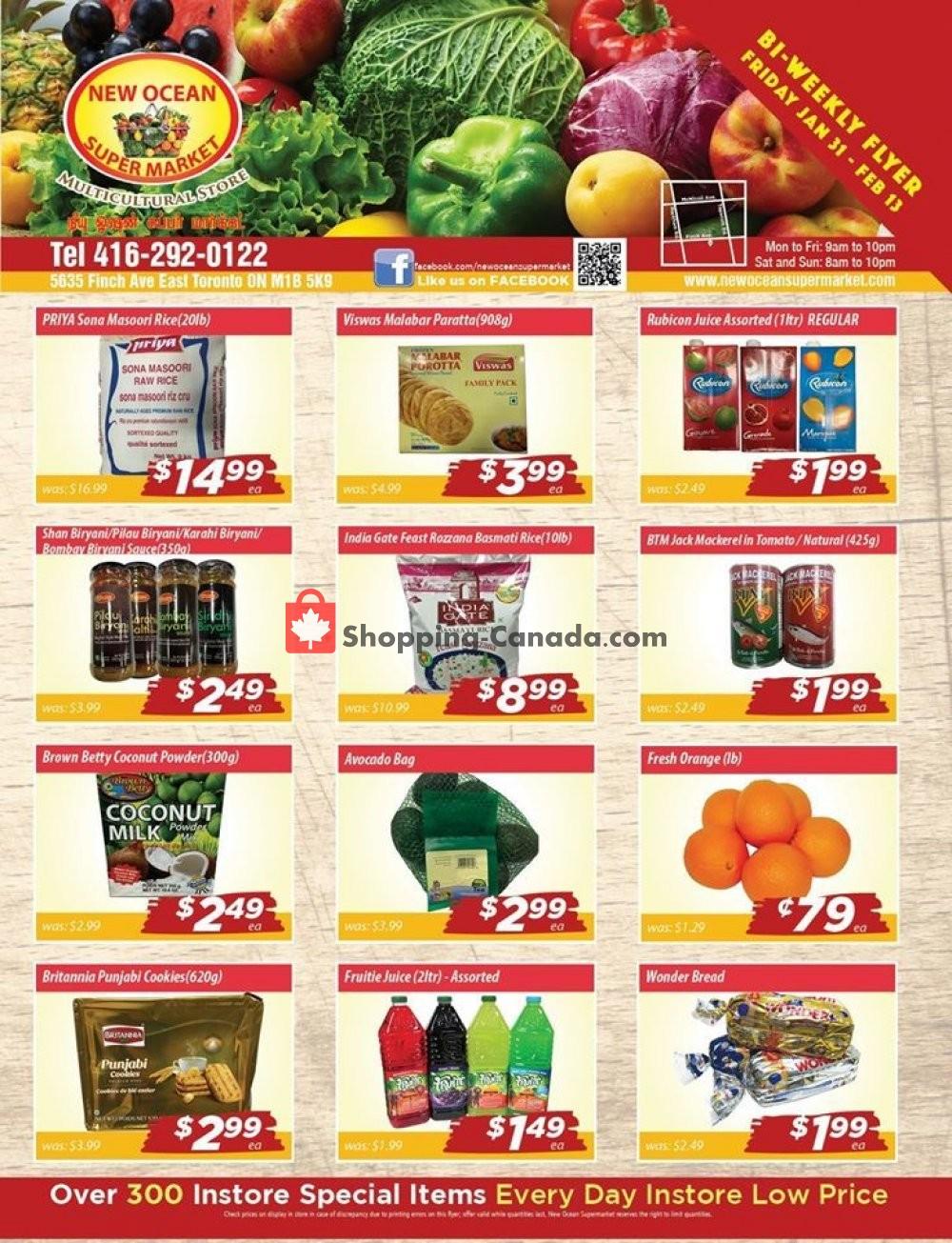 Flyer New Ocean Supermarket Canada - from Friday January 31, 2020 to Thursday February 13, 2020